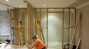 Structural alterations - conversion with kitchen installation and partition walls